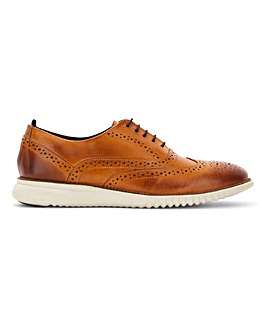 Shepley Leather White Sole Brogue Standard Fit