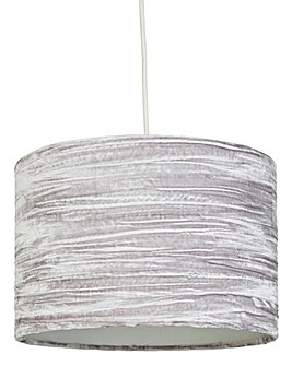 Grey Crushed Easy Fit Velvet Pendant
