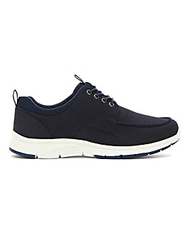 Niall Casual Lace Up Trainer Wide Fit