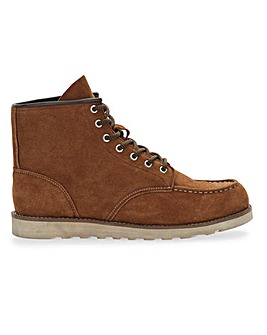 Tully Suede Lace Up Boot Wide Fit