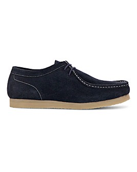 Suede Apron Seam Shoe Wide Fit