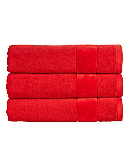 Christy Prism Towel Range- Fire Engine