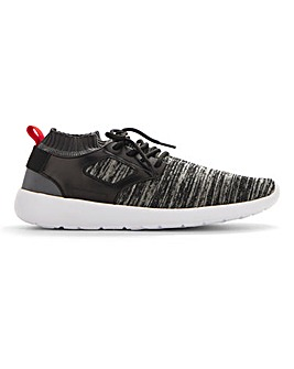 Knitted Lace Up Trainer