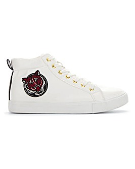 High Top Embroidered Trainer