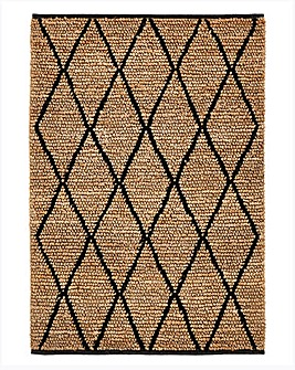 Diamond Hemp and Wool Rug Large