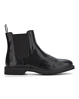 Shaw Leather Look Chelsea Boot W
