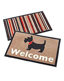 Muddle Mat Pack of 2- Dog & Stripes