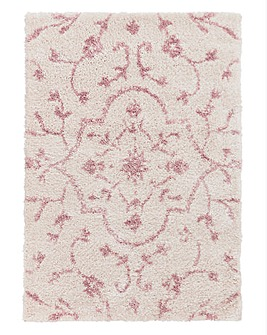 Floral Shaggy Rug Large