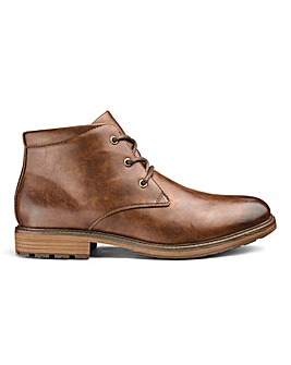 Leather Look Chukka Boots Standard Fit