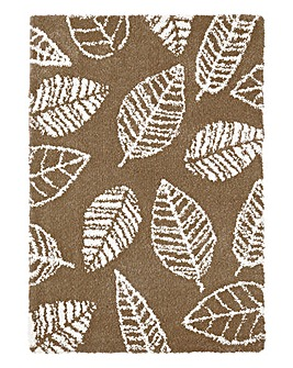 Autumn Leaves Shaggy Rug Large
