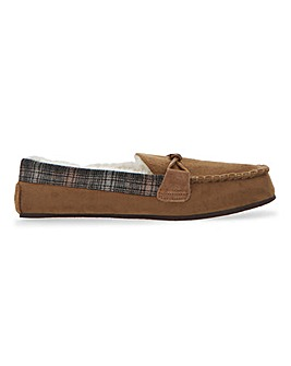 Suede Look Moccasin Slipper