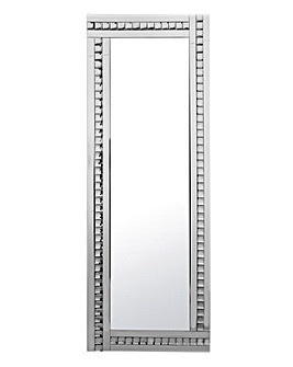 Floor Standing Mirror with Crystals