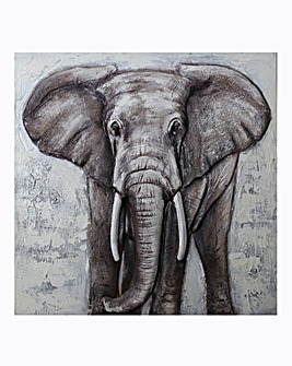Arthouse 3D Elephant Canvas