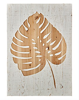 Graham & Brown Tropical Leaf Wood Panel