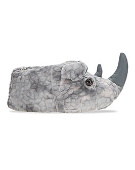 3D Rhino Head Slippers