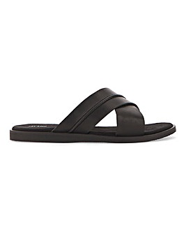 Leather Cross Strap Sandal W Fit