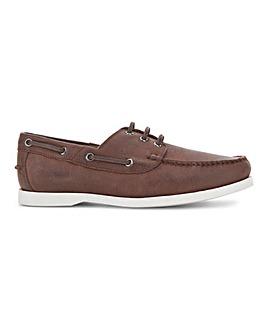 Premium Lea Boat Shoe Wide Fit
