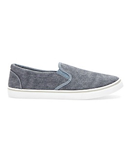 Jack Slip On Canvas Pump Wide Fit