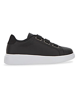 Leather Look Triple Strap Trainer