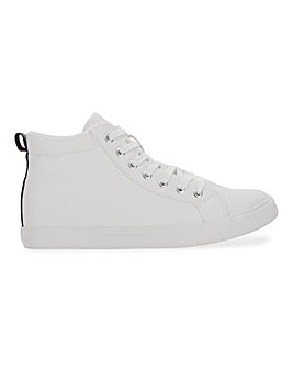 Leather Look High Top Trainer