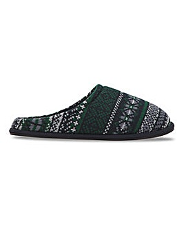 Fairisle Knit Mule