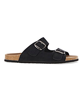 Footbed Buckle Sandal Standard Fit