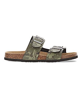 Camo Footbed Sandal