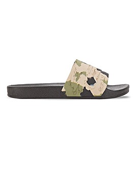 Camo Footbed Slider