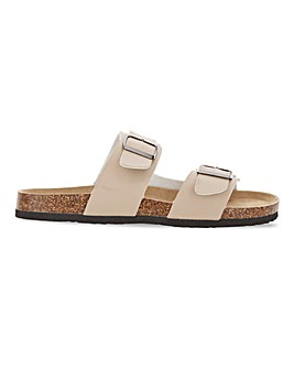 Taupe Footbed Sandal