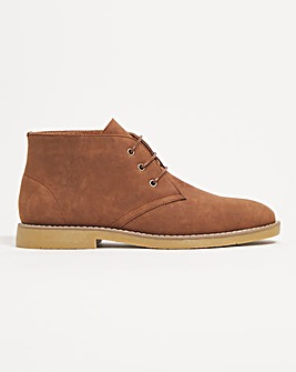 Jacamo Casual Flex Chukka Boot Wide Fit