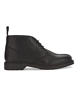Black Comfort LL Chunky Chukka Boot Wide