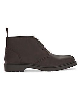 Brown Comfort LL Chunky Chukka Boot Wide