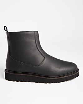 Black Casual Rubber Boot