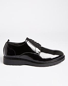 Black Lace Up Shoe Wide Fit
