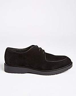 Black Casual Faux Suede Shoe Wide