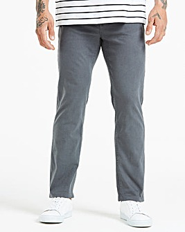 Straight Gabardine Charcoal Jeans 33 in