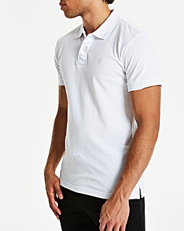 White Short Sleeve Polo Regular