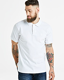 White Short Sleeve Polo Long