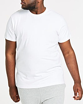 White Crew Neck T-shirt Long