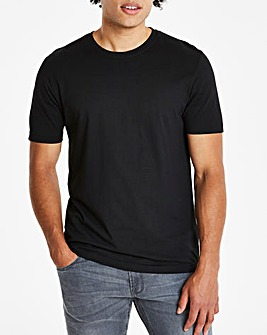 Black Crew Neck T-shirt Long