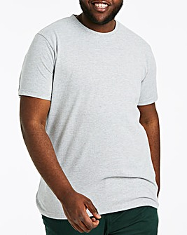 Grey Crew Neck T-shirt Long