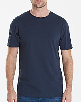 Navy Crew Neck T-shirt Long