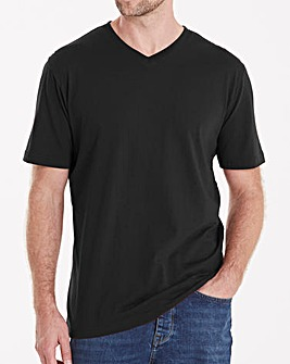 Capsule Black V-Neck T-shirt L
