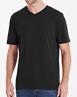 Black V-Neck T-shirt Regular
