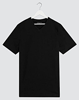 Black V-Neck T-shirt Long
