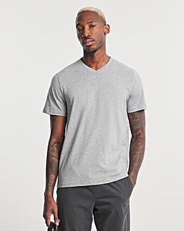 Grey Marl V-Neck T-shirt Regular