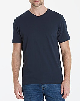Capsule Navy V-Neck T-shirt L