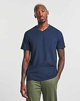 Navy V-Neck T-shirt Regular