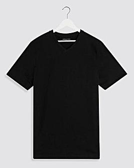 Black V-Neck T-shirt Long