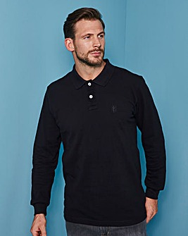Black Long Sleeve Polo Regular